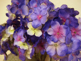 "MULTI colors Hydrangea Bush Artificial Silk Flowers 23"" Bouquet 9-761 NBL - Phoenix Silk Flower Marketplace"