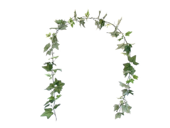 ENGLISH IVY Leaves 7ft Garland Artificial Greenery Vine 80003 - Phoenix Silk Flower Marketplace