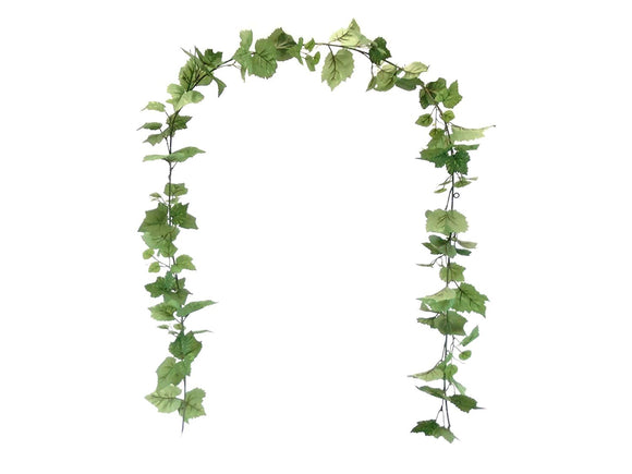 GRAPE IVY Leaves 7ft Garland Artificial Greenery Vine 80005 - Phoenix Silk Flower Marketplace