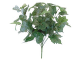 "PIGGYBACK Leaf Bush Artificial Silk Greenery 17"" Plant 12 - 80189 - Phoenix Silk Flower Marketplace"