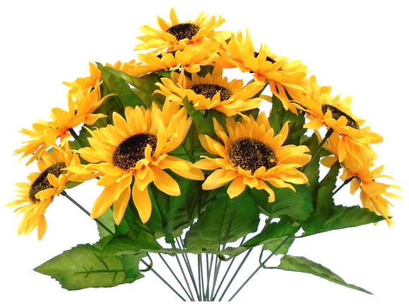 Sunflower Bush Artificial Silk Flowers 17