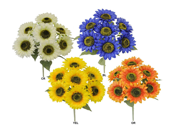 Sunflowers Bush Artificial Silk Flowers 17