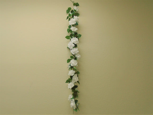 Roses Garland Artificial Silk Flowers 5 ft. Vine 8284 - Phoenix Silk Flower Marketplace