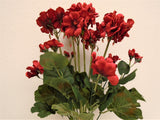 "Geranium Bush Artificial Silk Flowers 20"" Bouquet 12-8390 - Phoenix Silk Flower Marketplace"