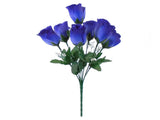 "3 Bushes Small Rose Buds Artificial Silk Flowers 12"" Bouquet 7-898 - Phoenix Silk Flower Marketplace"
