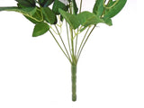 "Half Open Rose Buds Bush 9 Artificial Silk Flowers 18"" Bouquet 1923 - Phoenix Silk Flower Marketplace"