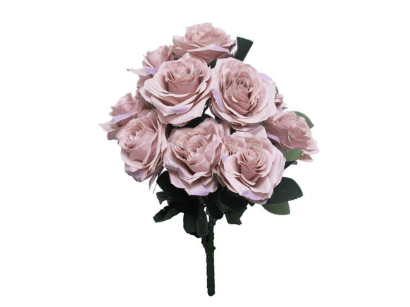 Open Rose Buds Bush Artificial Silk Flowers 17