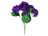 "Hydrangea Bush 5 Heads Artificial Silk Flowers 19"" Bouquet 1938 - Phoenix Silk Flower Marketplace"