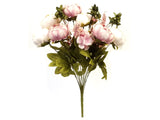 "Peony With Fillers Bush Artificial Silk Flowers 20"" Bouquet 13-1966"