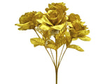 2 Bushes Open Rose Artificial Silk Flowers Bouquet 7-775 - Phoenix Silk Flower Marketplace