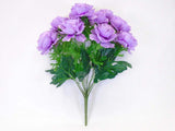 "Ranunculus Bush 12 Artificial Silk Flowers 18"" Bouquet 8206 - Phoenix Silk Flower Marketplace"