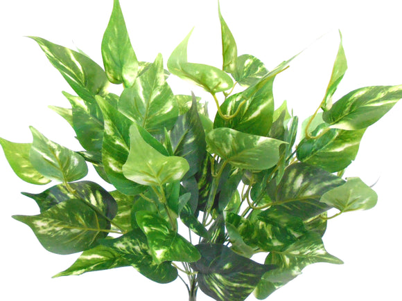 POTHOS Leaf Bush Artificial Silk Greenery 17
