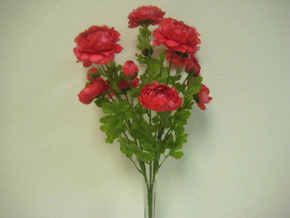 Ranunculus Bush 14 Artificial Silk Flowers 22