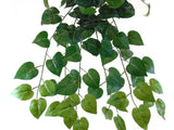 "PHILO Leaves Hanging Bush 25"" Artificial Silk Plants Greenery 8003 - Phoenix Silk Flower Marketplace"