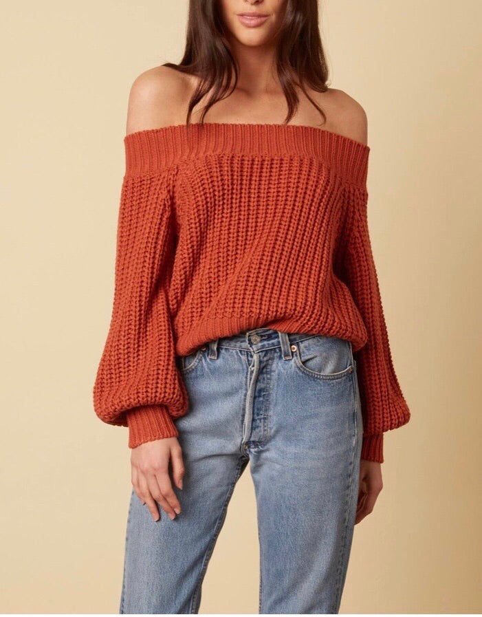 I AM courageous off the shoulder sweater