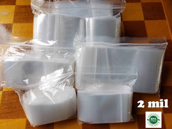 2 Mil Standard Duty Zip Top Bags