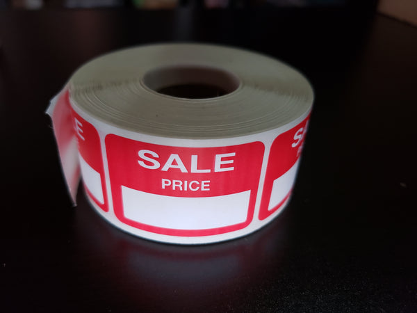 Sale Price Adhesive Label, Rectangular