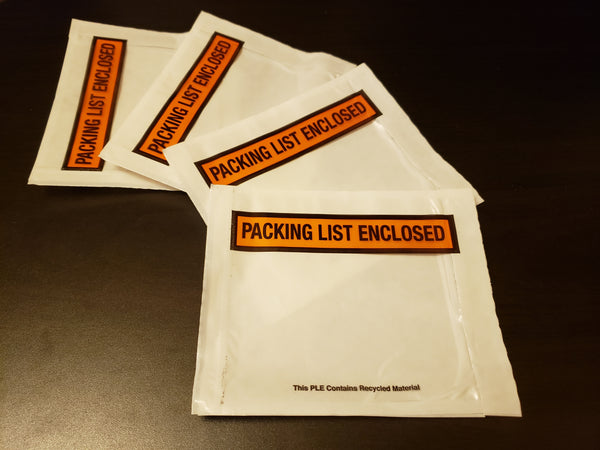 Printed Packing List Envelopes