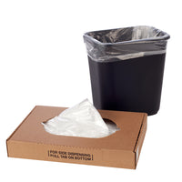 High Density Trash Can Liners, Flat Packed