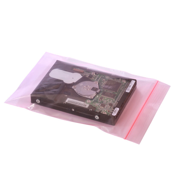 Zip Top Pink Antistatic Bags