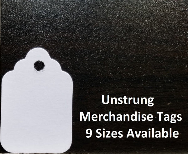 Blank White Price Tags, Unstrung