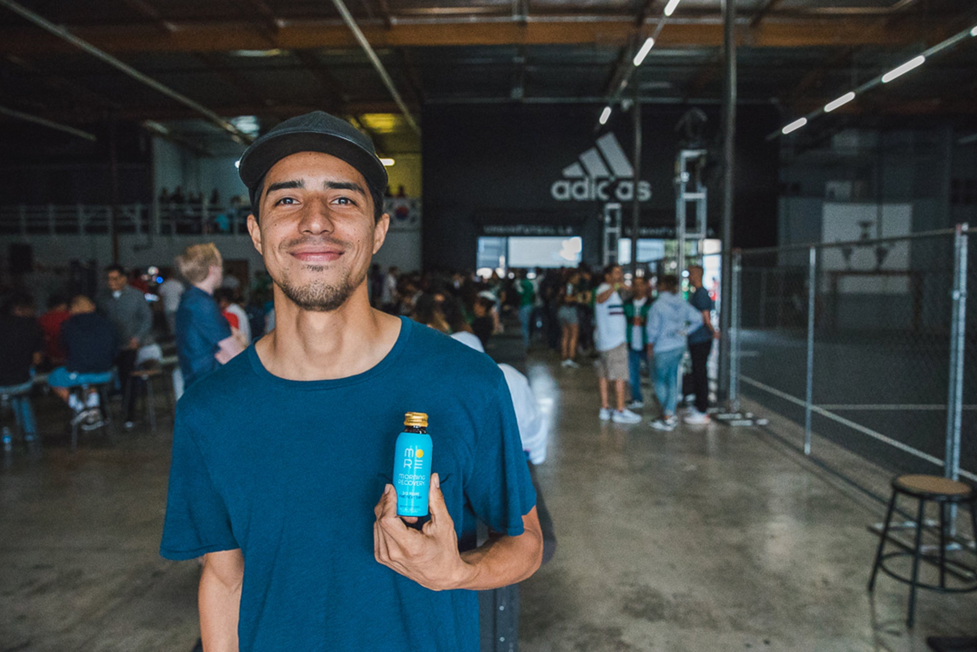Guy Drinks Morning Recovery at World Cup Viewing Party