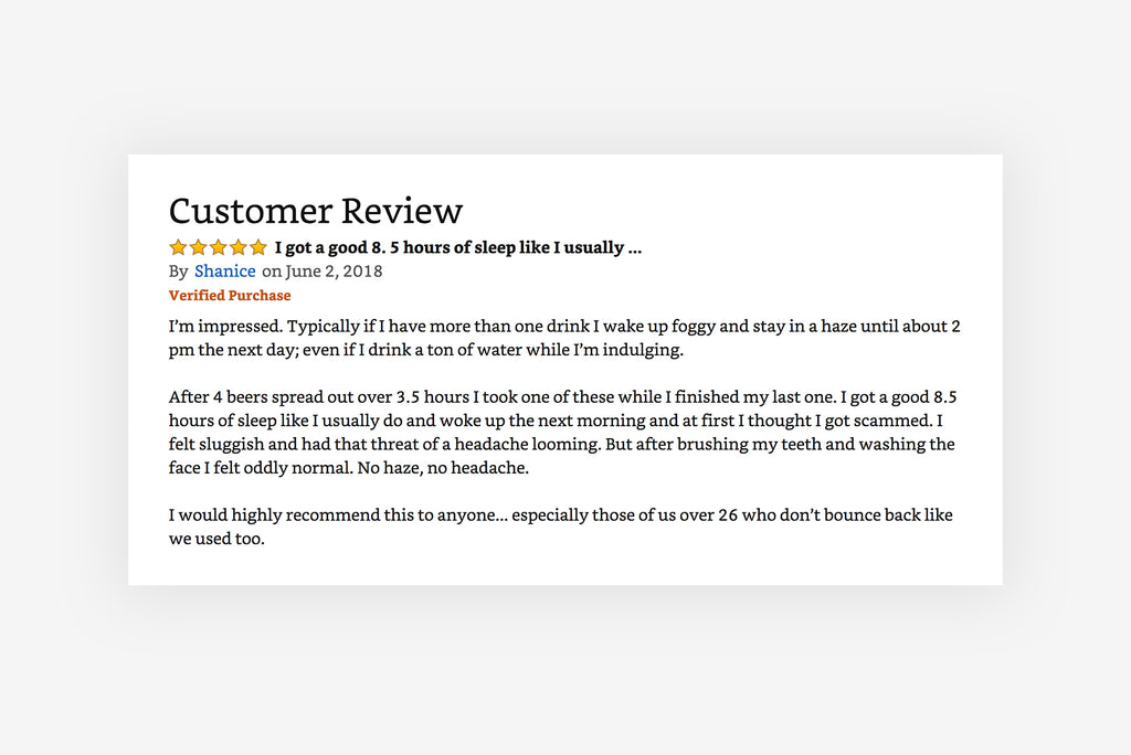 5 Star Amazon Review - Morning Recovery