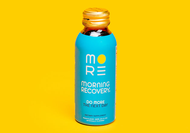 Morning Recovery Single Bottle Yellow Background