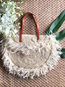 Straw Tassel Bag