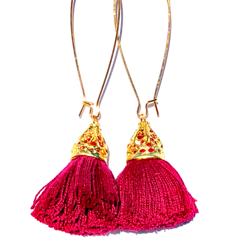 Gold Waikki Tassel Earrings - Shiraz
