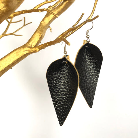 Teardrop PU Leather Earrings