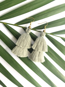 2 Tier Tassel Earrings