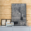 Black Line on Linen Artwork - Little Road Interior Design