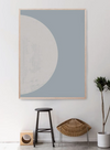 Luna Artwork - Oak Frame - Little Road Interior Design