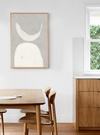 Crescent Moon Artwork - Oak Frame - Little Road Interior Design