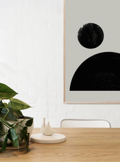 New Moon Artwork - Oak Frame - Little Road Interior Design