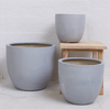 Lightweight Grey Round Pots - Little Road Interior Design