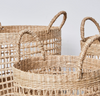 Woven Seagrass Baskets - 3 sizes