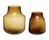 Loren Amber Glass Vase - 2 sizes