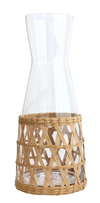 Wicker Glass Jug - Little Road Interior Design