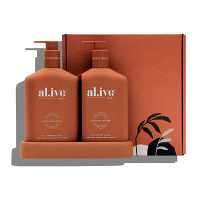 Wash & Lotion Duo + Tray - Fig, Apricot & Sage - Little Road Interior Design