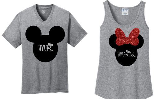 Mr. and Mrs. Disney Shirts Set