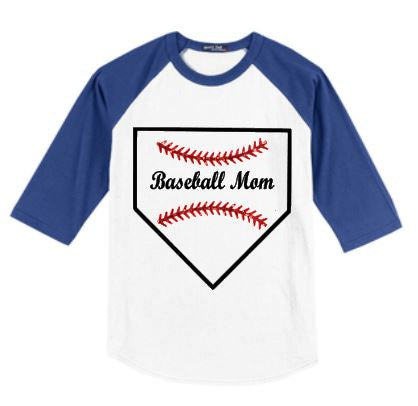 Baseball Mom T-Shirt - Jersey Style