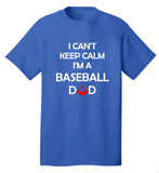 Keep Calm Baseball Dad