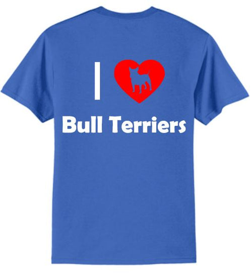 Dogs - I Love Bull Terriers T-Shirt