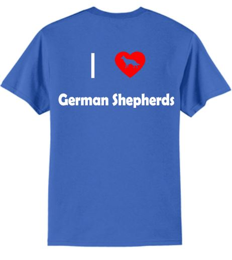 Dogs - I Love German Shepherds T-Shirt