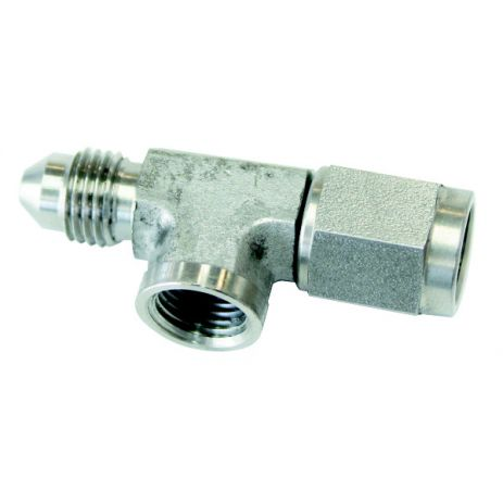 Aeroflow Straight Male to Female with NPT Port S/S Brake Fitting