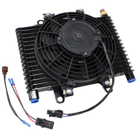 "Aeroflow 13.5 x 9"" Comp Trans Cooler with 120W Fan & Switch"