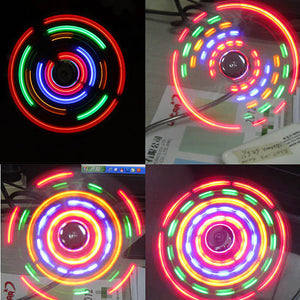 Multi-Colored LED Fan