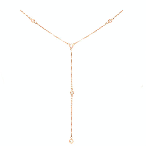 Rose Gold Diamond Drop Chain